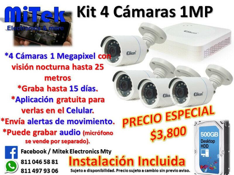 Cámaras de Seguridad para Casa o Negocio CCTV HD desde 1