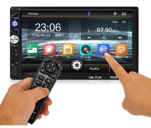 Estereo Touchscreen Slim, Bluetooth, Mirror Link Y Cámara