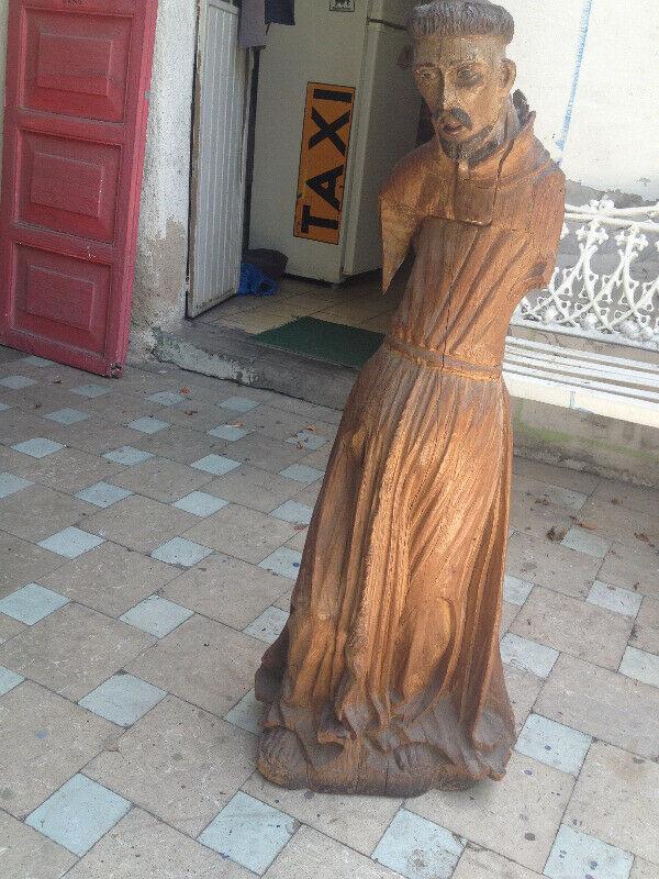 Talla en madera de San Francisco de Asis antigüedad