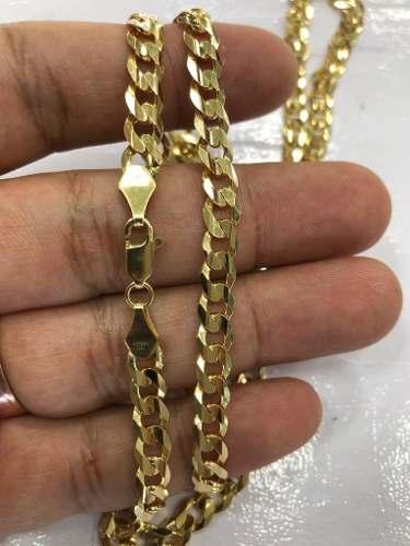 Cadena Oro 14k Barbada Solida 65cm Largo Y 6mm 33.5 Gramos