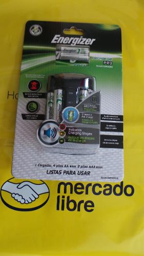 Cargador De Baterias Energizer + 6 Baterias (4aa, 2aaa)nuevo