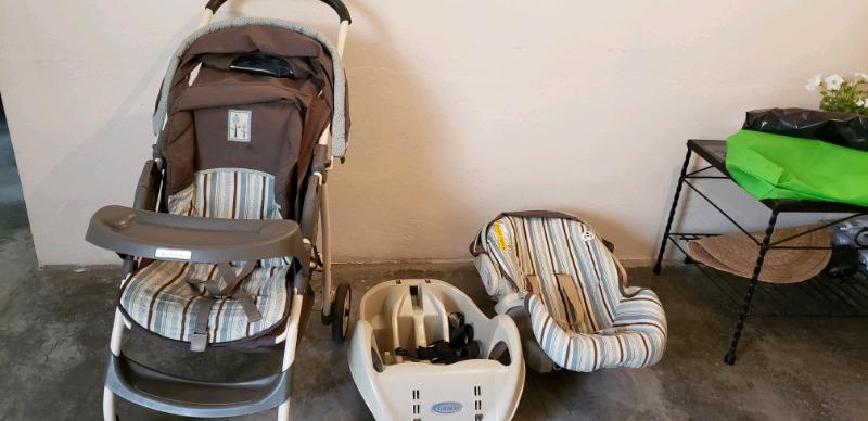 Carreola GRACO con silla para carro desmontable + periquera