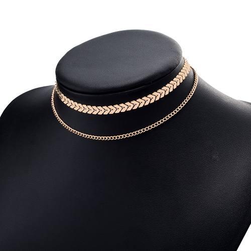 Collar Choker Multicapa Estilo Chevron A Buen Precio