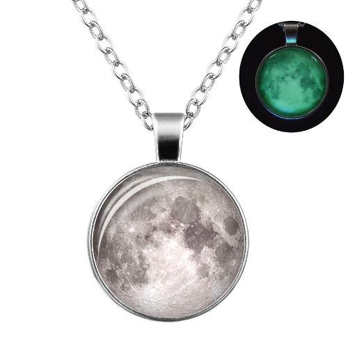 Collar Luna Luminosa Brillante + Precio De Mayoreo