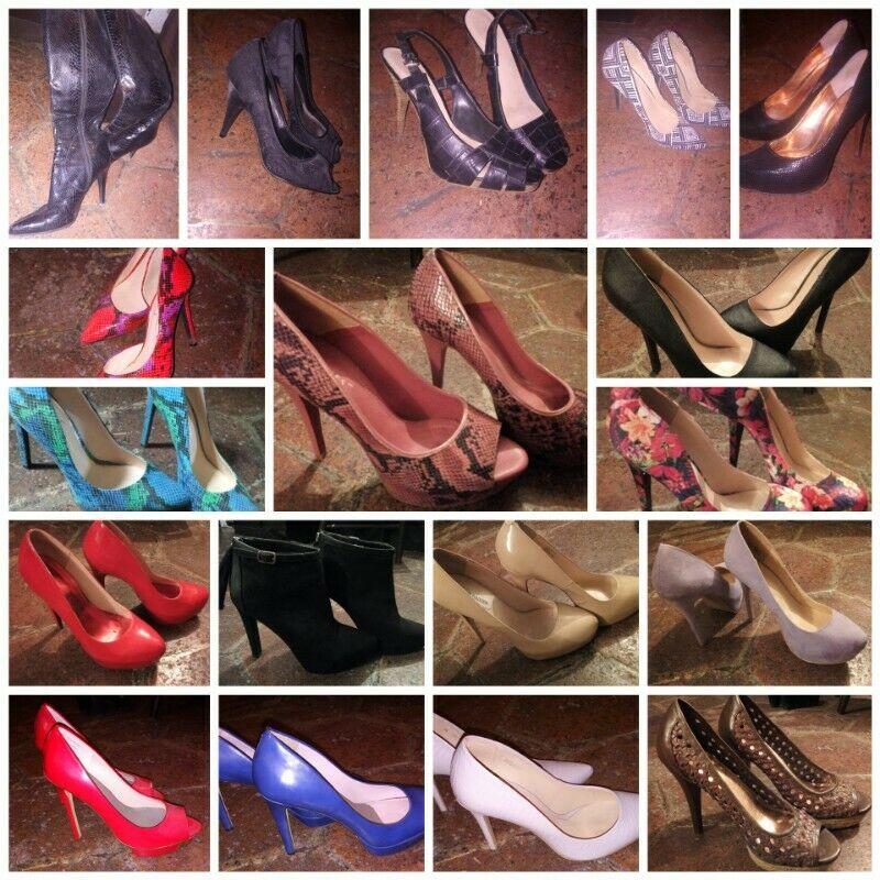 EXCELENTE OPORTUNIDAD!!!! Lote de zapatos de mujer