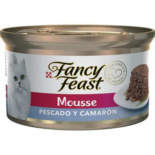 Fancy Feast Mousse Pescado Y Camaron Tod