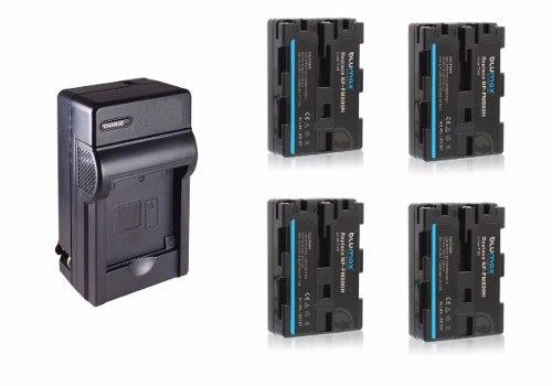 Kit 1 Cargador + 4 Baterías Np-fm500h Para Sony Alpha