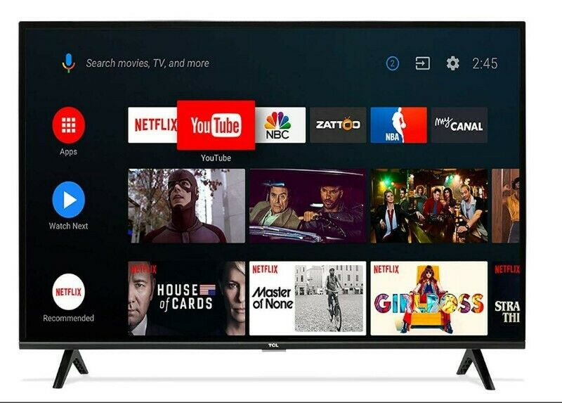 "Pantalla TCL 40"" Smart TV, FHD, Google Chromecast"