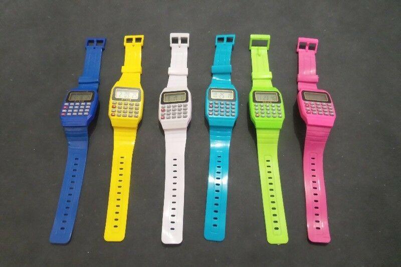 Reloj Calculadora Digital Pulsera Silicona electrónico