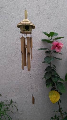 Windchime Espanta Espíritus De Bambú Movil De Viento