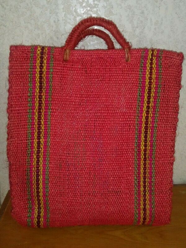 Bolsas de mandado tejidas con henequén artesanal incluye