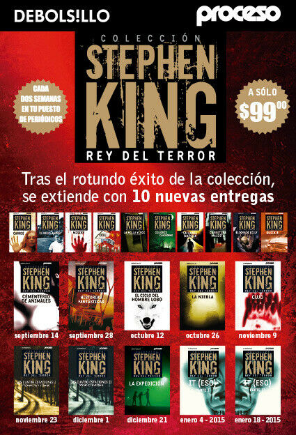 Coleccion de 20 libros de Stephen King