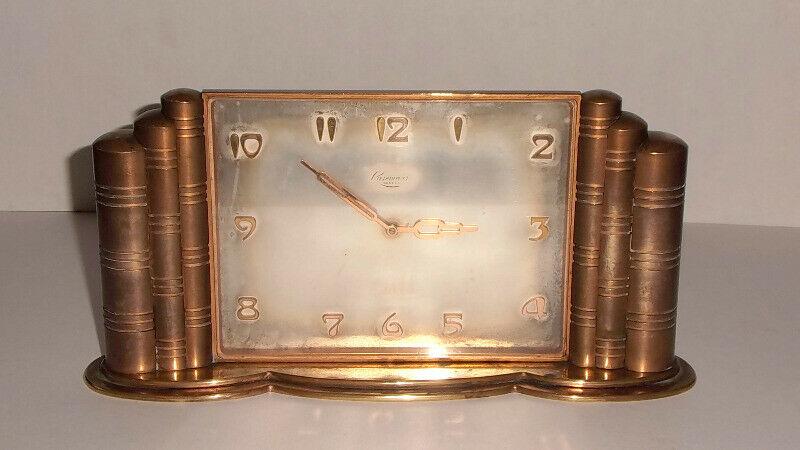 Reloj Suizo de mesa marca Rosemont Art déco 40s