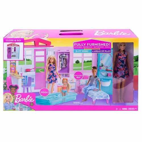 Barbie Nueva Casa Glam Con Muñeca