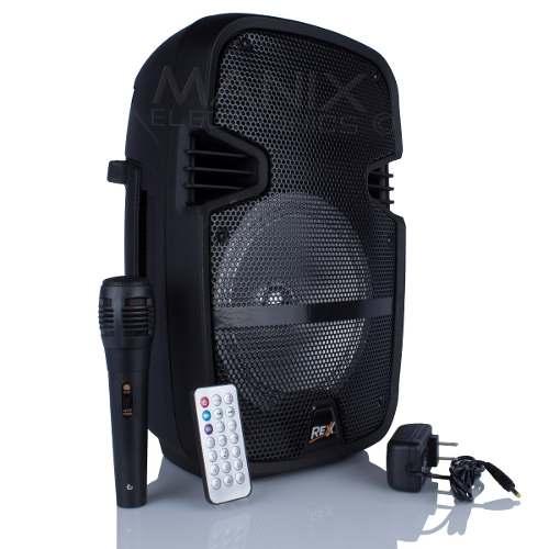 Bocina Amplificada 8 Pulgadas Rexx Bluetooth Micrófono Usb