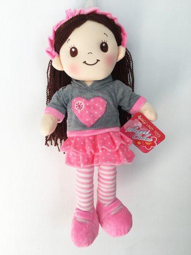 Muñeca De Trapo Y Tela Jane Color Rosa