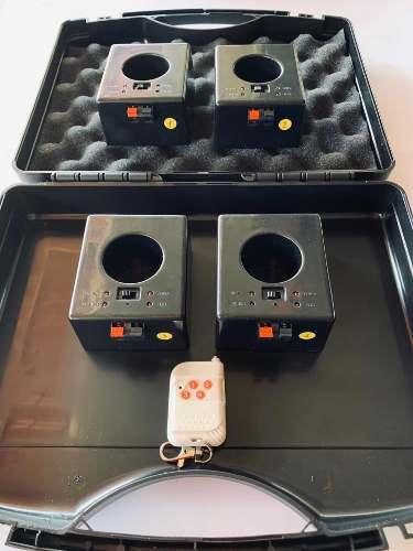 Sistema Inalambrico Recargable 4 Bases 1control Pirotecnia