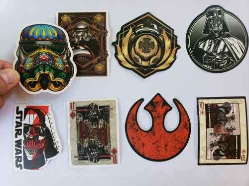 Star Wars 200 Calcomanias Stickers Pvc Contra Agua