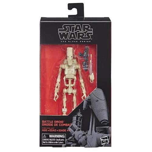 Star Wars E The Black Series - Figura De Battle Droid De