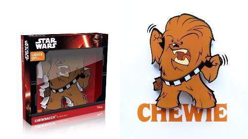 Star Wars Mini Chewbacca Lámpara De Pared 3d Deco Light