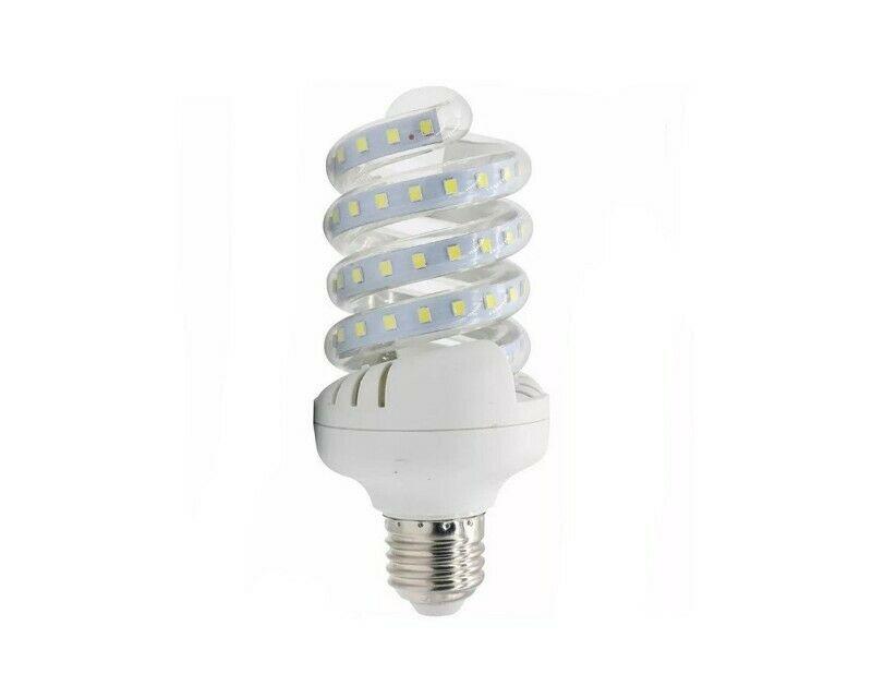 Foco Ahorrador De Bajo Consumo LED De Espiral 12w Luz Blanca