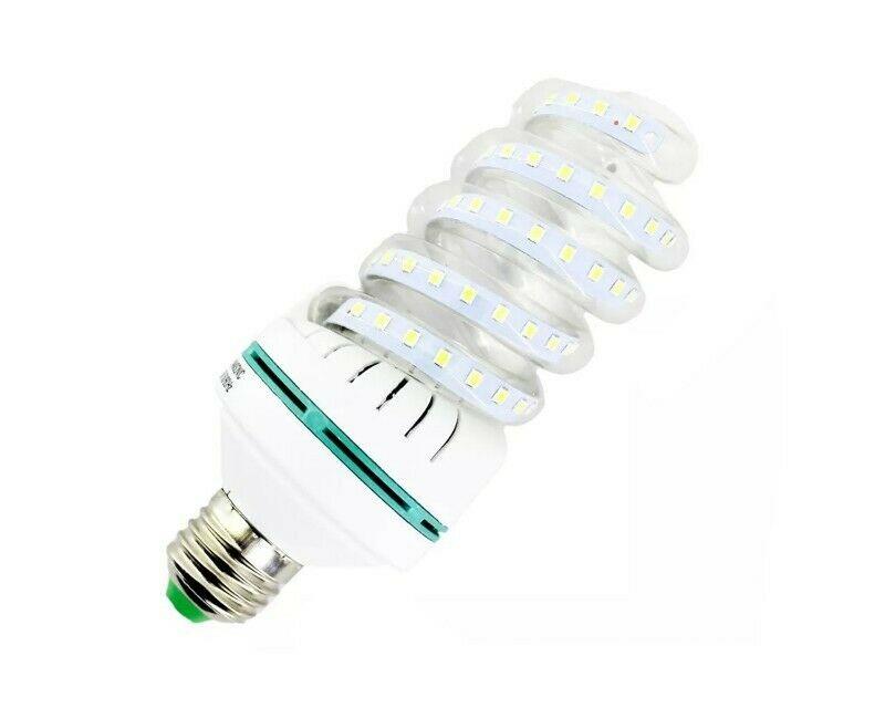 Foco Ahorrador LED Bajo Consumo De Espiral 20w Luz Blanca