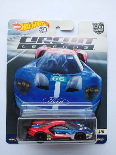 Hot Wheels '16 Ford Gt Race Circuit Legends Car Culture