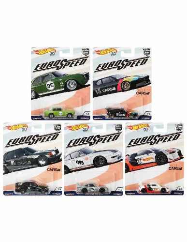 Hot Wheels Euro Speed Serie De 5pz Con Llantas De Goma
