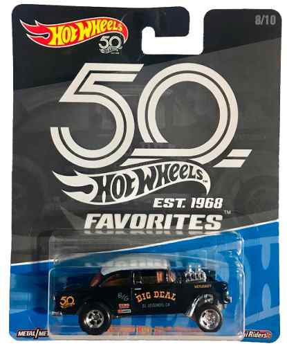 Hot Wheels Favorites 50th 55 Chevy Bel Air Gasser Chase