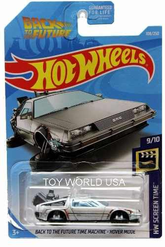 Hotwheels Back To The Future Time Machine Hover #