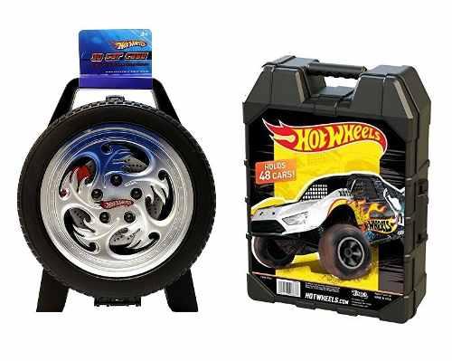 Set De 2 Estuches Para 30 Y 48 Hot Wheels Car Case