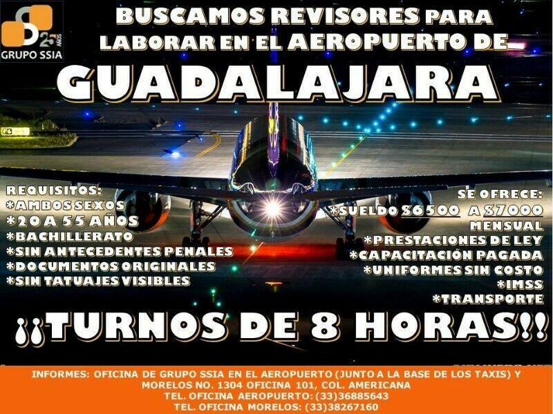 Solicito Guardias Revisores para el Aeropuerto de GDL