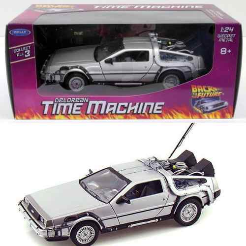 Volver Al Futuro Delorean Time Machine Part 1 Welly 1:24