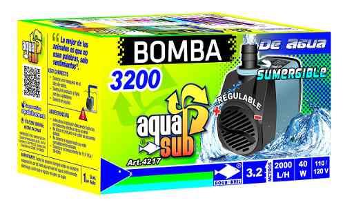 Bomba De Agua Sumergible 3.2m Acuario Fuente Muro