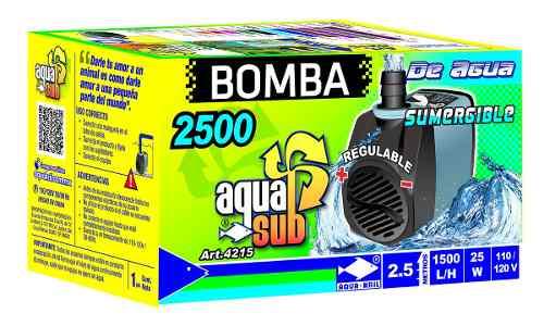 Bomba De Agua Sumergible Acuario Fuente Muro 2.5m
