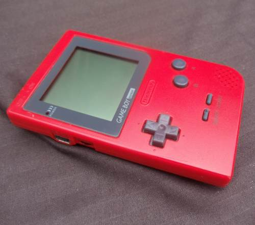 Game Boy Pocket Rojo Con Tapa De Pilas