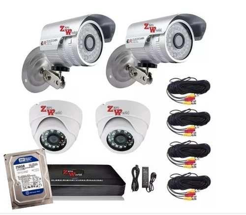 Kit Cctv 8 Ch Grabador 4 Camara tvl 720p Hd C Hdd 500gb