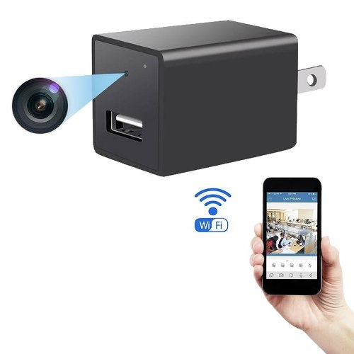 Mini Camara Espia Oculta Wifi Ip Cargador Usb Full Hd App