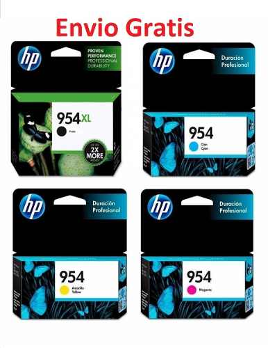 Kit Pack 4 Cartuchos Tinta Hp 954 Xl Negro 954 Normal Color