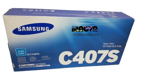 Toner Samsung C407 Clt-c407s Cian Nuevo Original Garantia