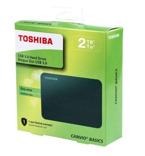 Disco Duro Externo 2tb Toshiba Canvio Basic 2.5 Usb 3.0