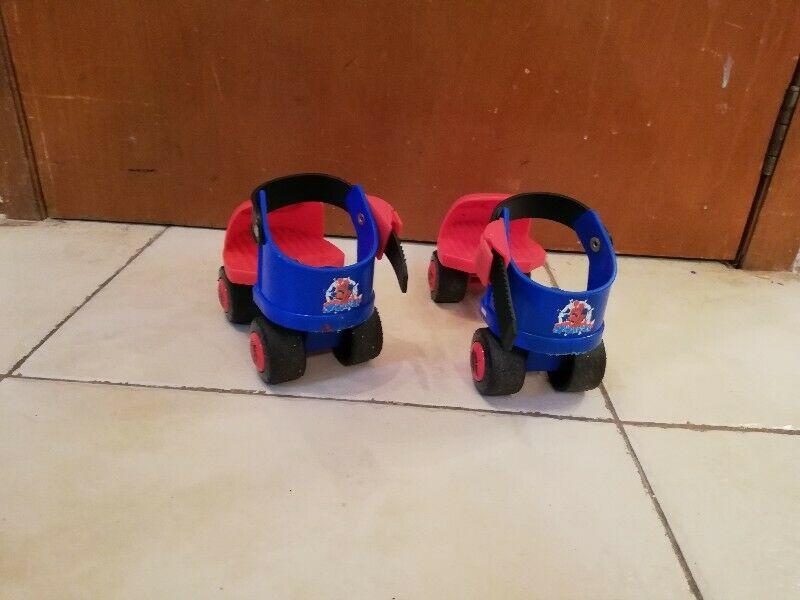Patines de spider man para niños ajustables patines