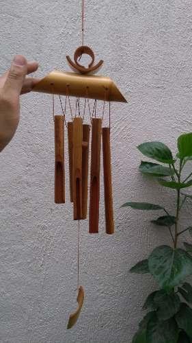 Windchime Campana Viento Movil Espanta Espíritus Bambu