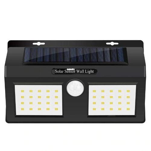 Lampara Solar Exterior Pared 40 Leds Sensor Movimiento Noche