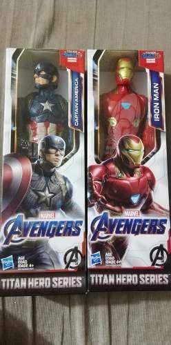 2 Avengers Muñecos Iron Man Y Capitán América Hasbro