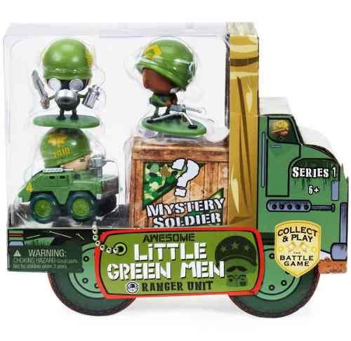 4 Muñecos Little Green Men Serie 1 Unidad De Guardabosques