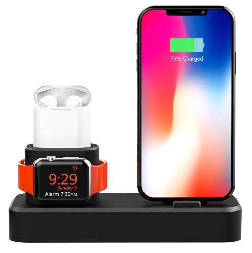Base Para iPhone AirPods Y Apple Watch Dock Estación D