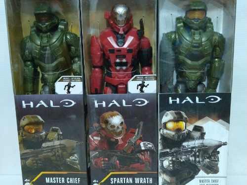 Halo, Master Chief, Serie De 3 Muñecos 30 Cm