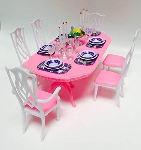 Mueble Para Casa De Muñeca Barbie Comedor Grande  Full