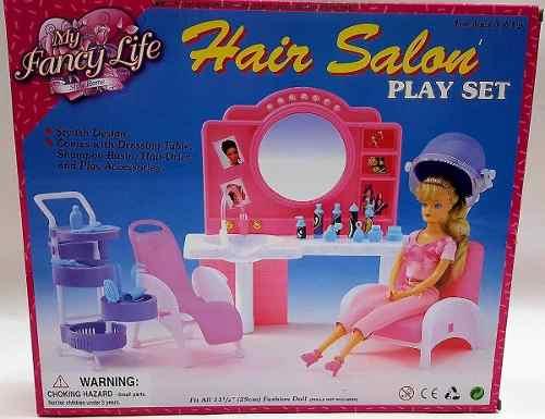 Mueble Para Casa De Muñeca Barbie Salon Estetica  Full